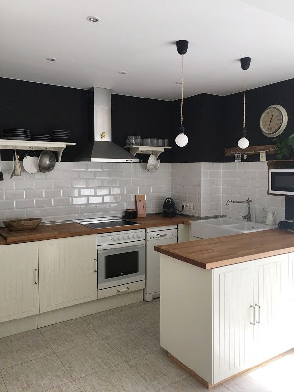 House tour cocina de ikea. pared metro
