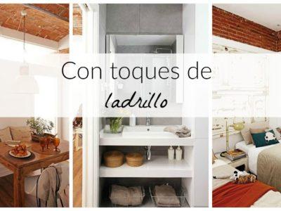 Un apartamento de vacaciones en Barcelona con toques de ladrillo