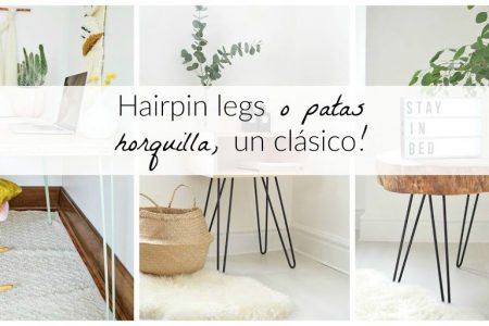 Hairpin legs o patas horquilla