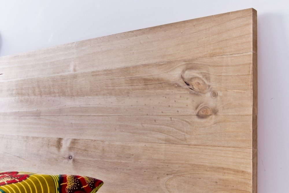 Cabecero life blanco y de madera - Cabeceros de madera blanco ...