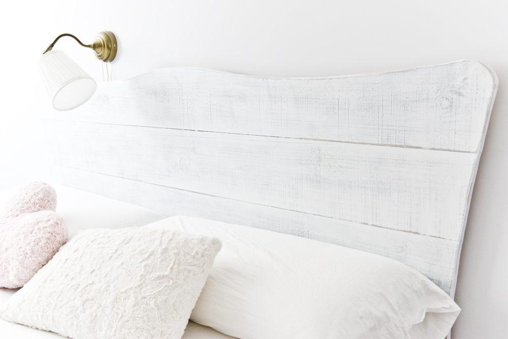 Cabecero shabby blanco y de madera - Cabeceros de madera blanco ...
