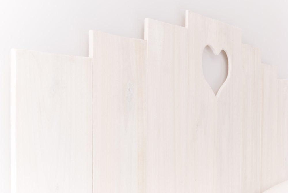 Cabecero corazon (Blanco y de madera) (5)