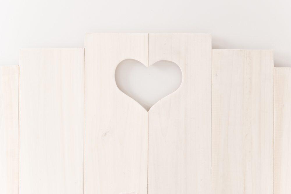 Cabecero coraz n blanco y de madera - Cabeceros de madera blanco ...