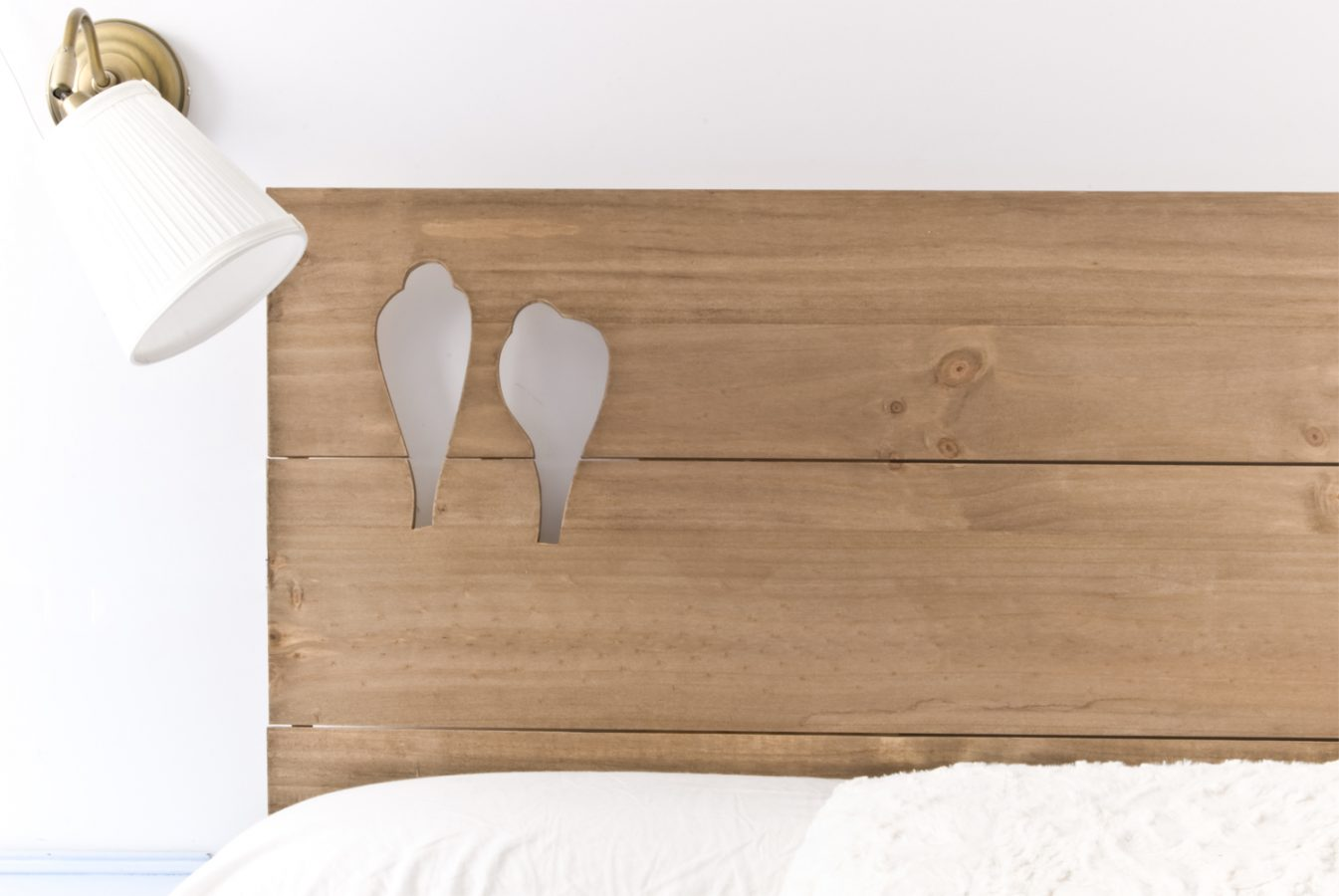 Cabecero p jaros blanco y de madera for Cabecero blanco madera