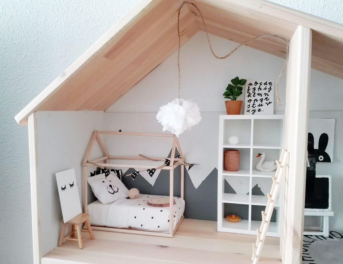 La casa de mu ecas de sarimadri blanco y de madera - La casita de madera ...