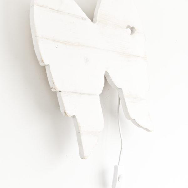Lampara alitas (Blanco y de madera) (1)