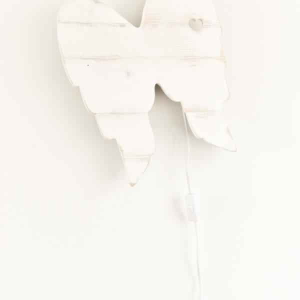 Lampara alitas (Blanco y de madera) (2)