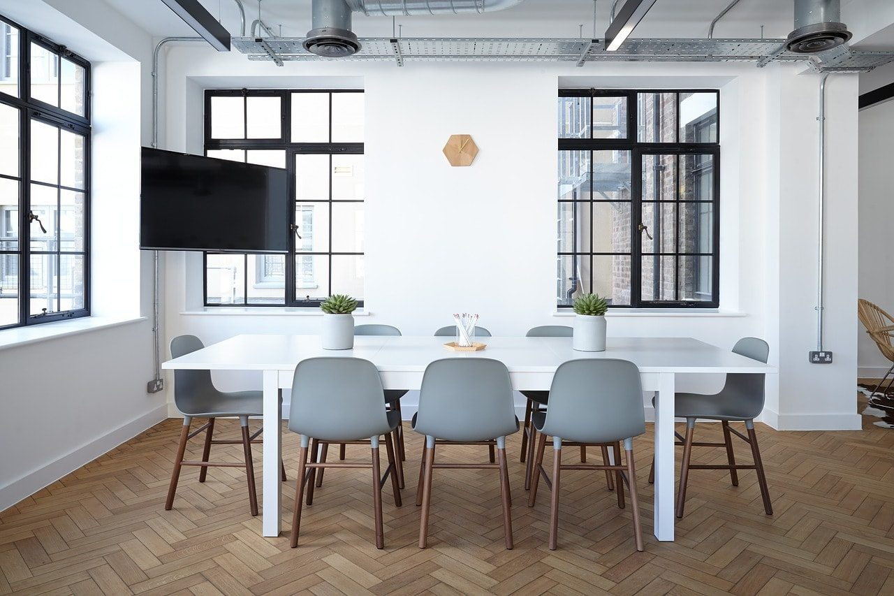 Decoraci N Low Cost Para Oficina Blanco Y De Madera # Muebles Low Cost