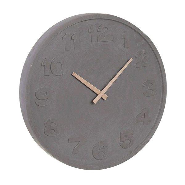 Original reloj de pared de cemento con agujas de madera - Reloj pared original ...