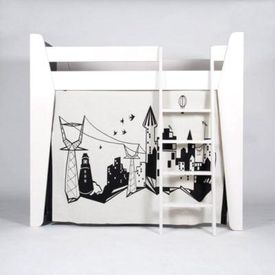 cama-litera-niños-nordica-ketara-loft-cortina
