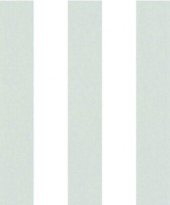 Papel pintado rayas menta