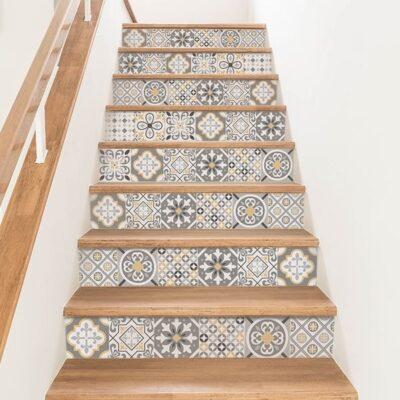 vinilo azulejos escalera